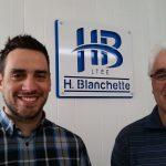 Denis et Maurice Blanchette de l'entreprise H.Blanchette ltée à Trois-Rivières.