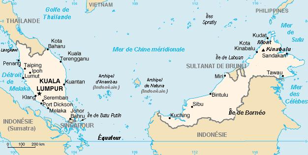 Malaisie-carte
